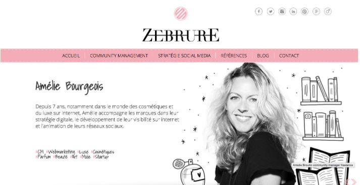 Thiết kế website với 2 mảng màu trắng - đen.