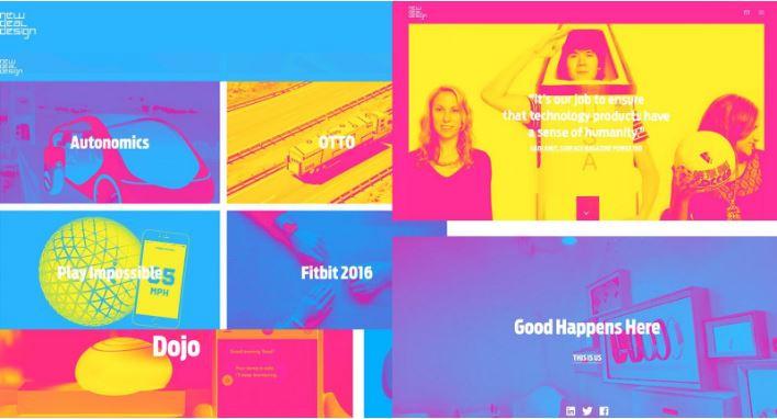 Thiết kế website theo phong cách retro.
