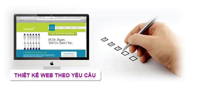 Dịch vụ thiết kế website theo yêu cầu.