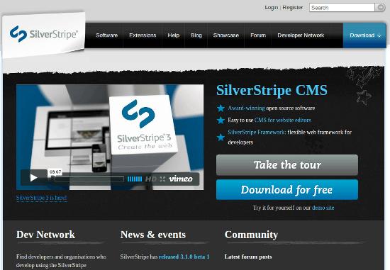 CMS - Silver Stripe hoàn toàn miễn phí và rất phù hợp cho SEO