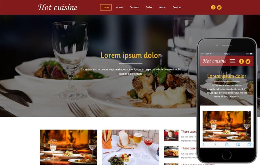 Hình ảnh là vô cùng quan trọng với web cho nhà hàng