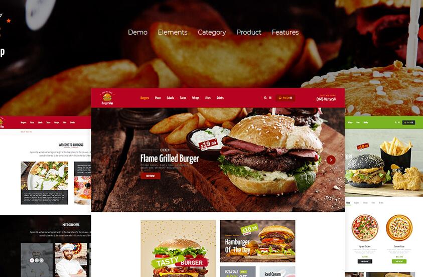 Màu sắc mạnh giúp website nhà hàng tạo được ấn tượng