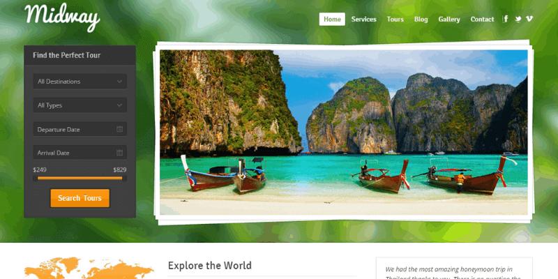 theme wordpress du lịch midway