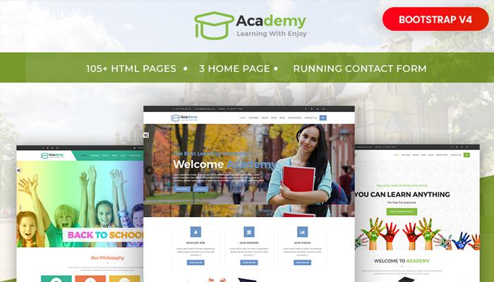 Mẫu thiết kế website giáo dục - Academy