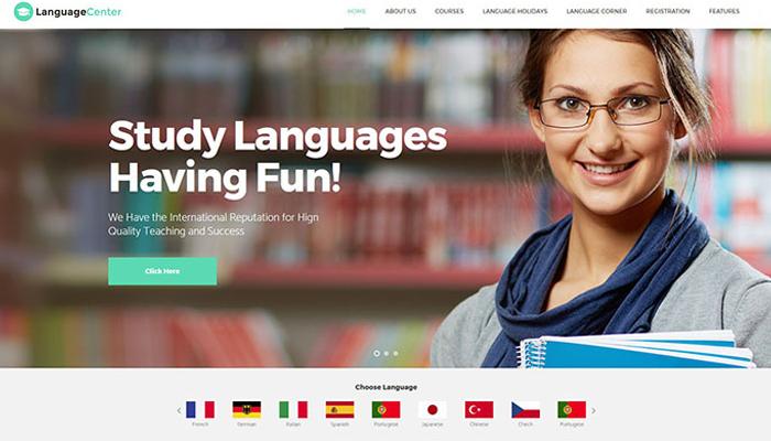 Mẫu website trung tâm ngoại ngữ - Language center