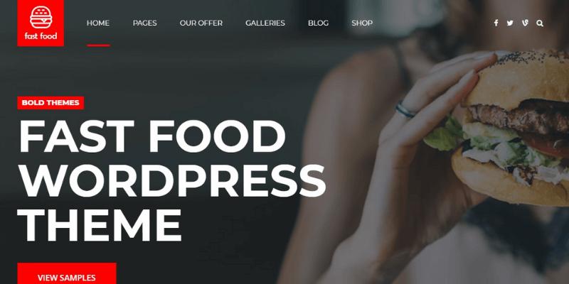 mẫu website fastfood